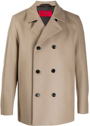 HUGO BOSS Double-Breasted Wool Coat