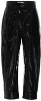 Tibi Patent faux-leather pants