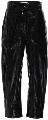 Tibi Patent faux-leather pants