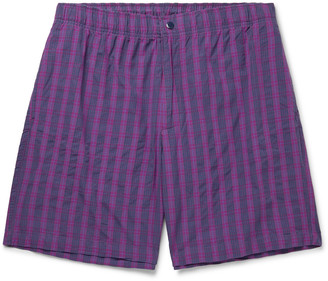 Adsum Bank Checked Cotton Shorts