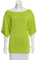 Ralph Lauren Short Sleeve Crochet Sweater