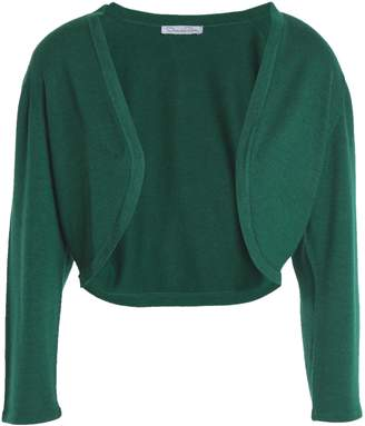 Oscar de la Renta Cropped Cashmere And Silk-blend Cardigan
