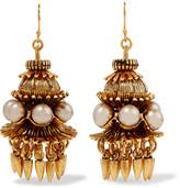 Elizabeth Cole Gold-plated faux pearl earrings