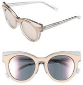 Le Specs Women's 'Edition Three' 51Mm Cat Eye Sunglasses - Matte Blush/ Amber Tort