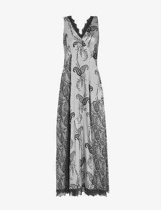 AllSaints Kashmir paisley-print chiffon maxi dress