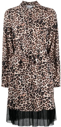 Liu Jo Leopard-Print Belted Dress