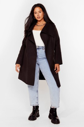 Nasty Gal Womens Tailored to You Plus Longline Jacket - Black