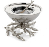 Michael Aram Ocean Coral Caviar Dish & Spoon