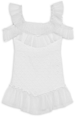 Bardot Junior Girl's Sophie Knit Cold-Shoulder Ruffle Dress