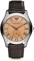 Emporio Armani Steel Men's Watch w/Croco strap