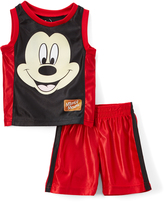 Children's Apparel Network Mickey Mouse Tank & Shorts Set - Infant & Toddler
