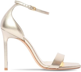 Saint Laurent 105mm Amber Metallic Leather Sandals
