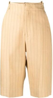 Jacquemus Pinstripe-Pattern Knee-Length Shorts