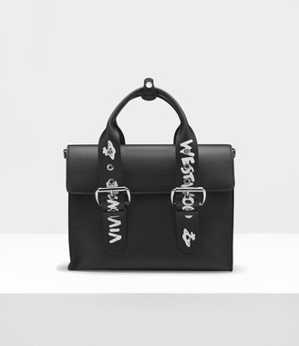 Vivienne Westwood Alexander Document Case Black/ White Graffiti