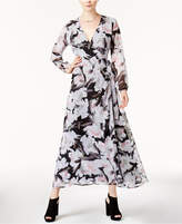 Bar III Printed Wrap Maxi Dress, Created for Macy's