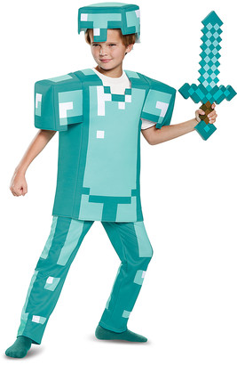 Disguise Boys' Costume Outfits - Minecraft Armor Deluxe Dress-Up Set - Boys