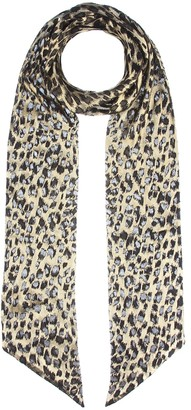 Saint Laurent Metallic leopard scarf