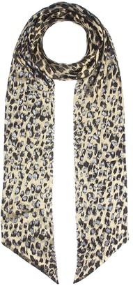 Saint Laurent Metallic leopard scarf