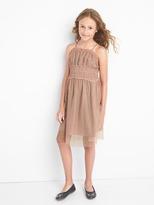 Gap Flutter tulle spaghetti dress