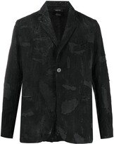 Avant Toi distressed single-breasted blazer