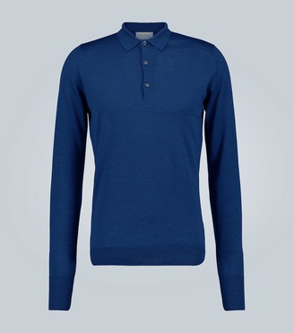 John Smedley Wool long-sleeved polo shirt