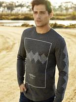 Jeanswest Alan Long Sleeve Print Crew Tee-Iron-S