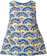 P.A.R.O.S.H. floral flared tank top - women - Nylon/Polyester/Acetate/Viscose - XS