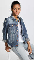 Blank Distressed Denim Jacket