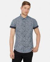 yd. Black Paisley Short Sleeve Shirt