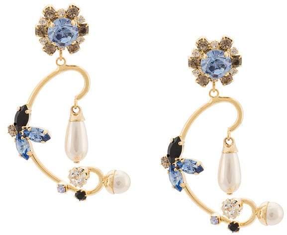 Erdem Floral Filigree earrings