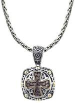 Effy Jewelry Effy 925 Cognac Diamond Maltese Cross Pendant, .45 TCW