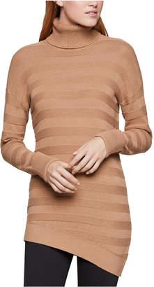 BCBGeneration Cotton Textured-Knit Turtleneck Sweater
