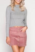 She and Sky Corduroy Mini Skirt