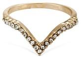 Women's Pave V Ring - Gold