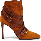 Thumbnail for your product : Balmain Jackie Buckled Suede Ankle Boots