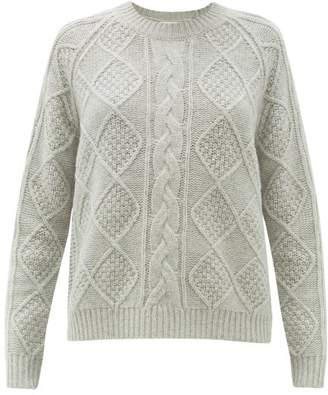 Allude Cable Knit Wool Sweater - Womens - Grey