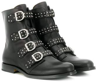 Gallucci Kids TEEN buckled ankle boots