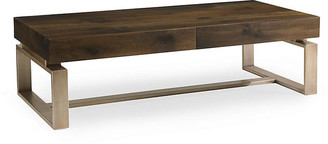Caracole Artisans Coffee Table - Fumed Oak/ Matte Gold
