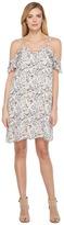 Brigitte Bailey Justine Minifloral Print Flutter Sleeve Lace-Up Dress