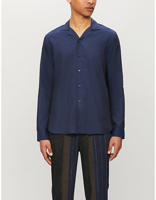 Orlebar Brown Giles cotton and silk-blend shirt