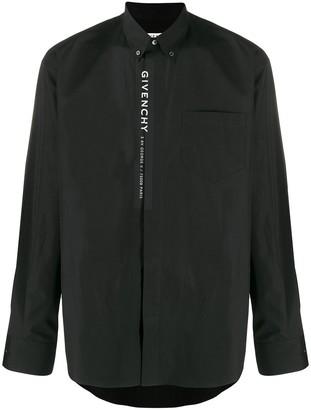 Givenchy Front Logo Print Shirt