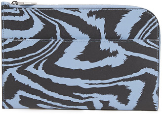 Ganni Printed Textured-leather Pouch