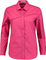 Carven Embroidered cotton-poplin shirt