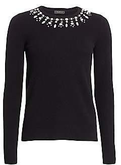 Saks Fifth Avenue Women's COLLECTION Embellished Cashmere Pullover