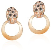 Effy Jewelry Signature Rose Gold Diamond & Emerald Earrings, .81 TCW