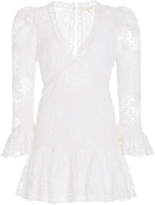 LoveShackFancy Francisco Bridal Lace Mini Dress