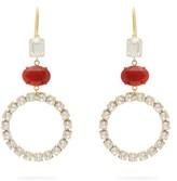 Isabel Marant Crystal-embellished Hoop Earrings - Womens - Red