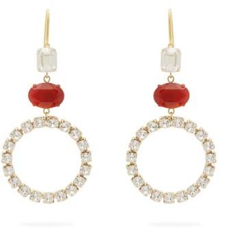 Isabel Marant Crystal-embellished Hoop Earrings - Red