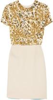Michael Van Der Ham Embellished patchwork dress