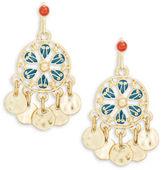 Nanette Lepore Fringed Medallion Drop Earrings